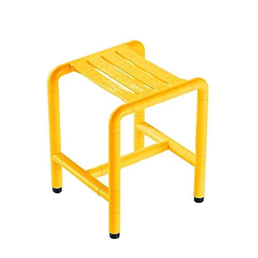 深さ連続的宣言バスシート、軽量高さ調節可能なシャワースツール、バスルームの安全性とセキュリティ、高齢者、身体障害者 (Color : 黄)