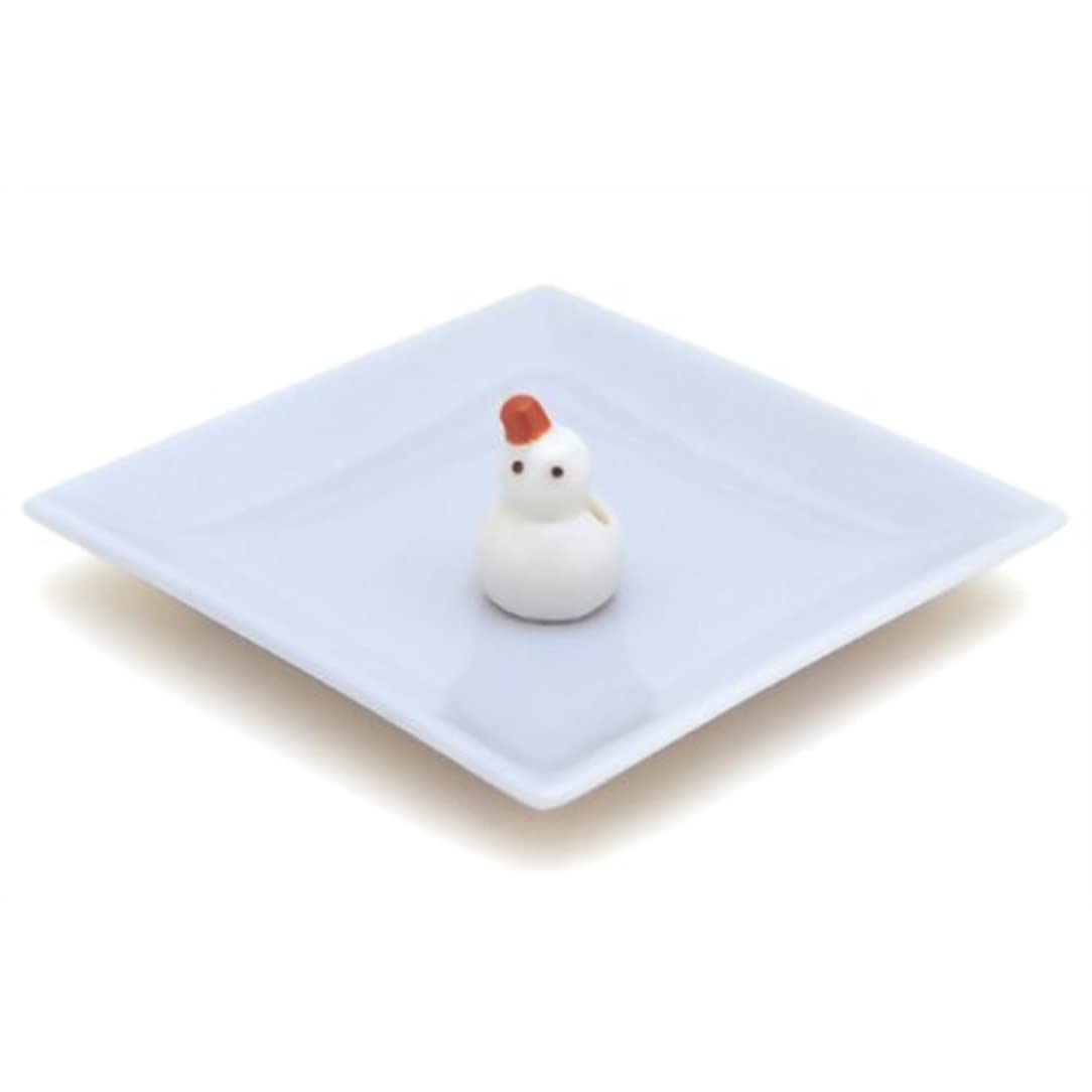 ポインタ吸収剤十分に陶器香皿&雪ダルマ香立