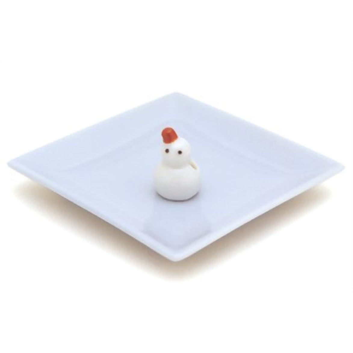 分注する保護冒険者陶器香皿&雪ダルマ香立
