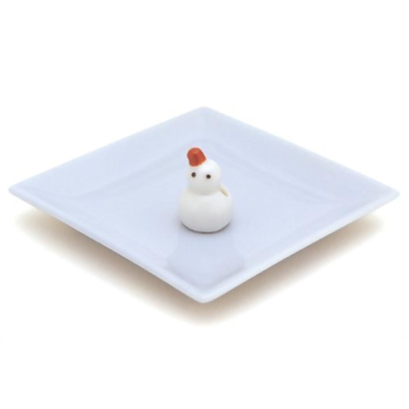 貯水池変化する解明する陶器香皿&雪ダルマ香立