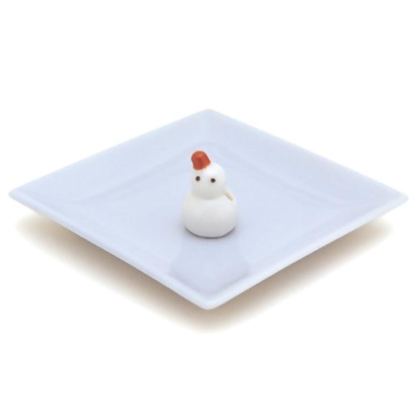 発行する空いているお尻陶器香皿&雪ダルマ香立