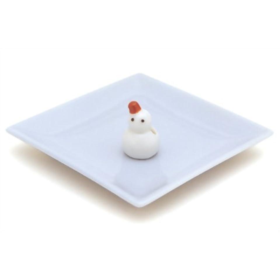 サークルチャット便益陶器香皿&雪ダルマ香立