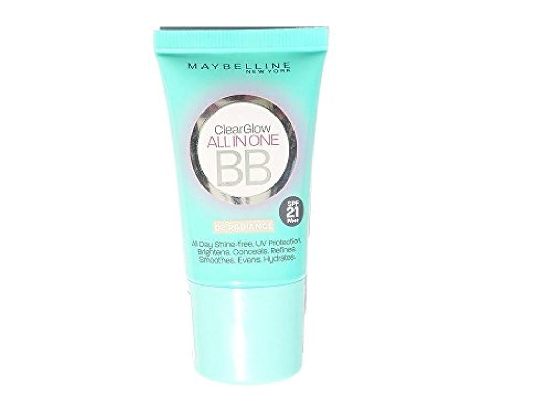 重荷誕生日遠いMaybelline New York Clear Glow All in One BB Cream Radiance, 18ml
