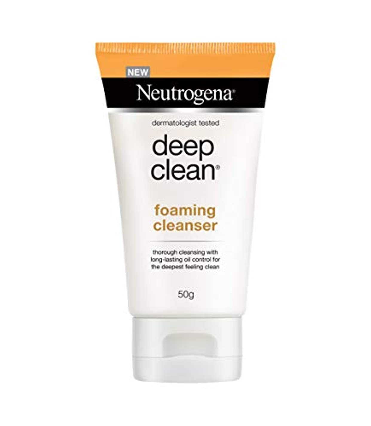 明確な刈るトリプルNeutrogena Deep Clean Foaming Cleanser, 50g