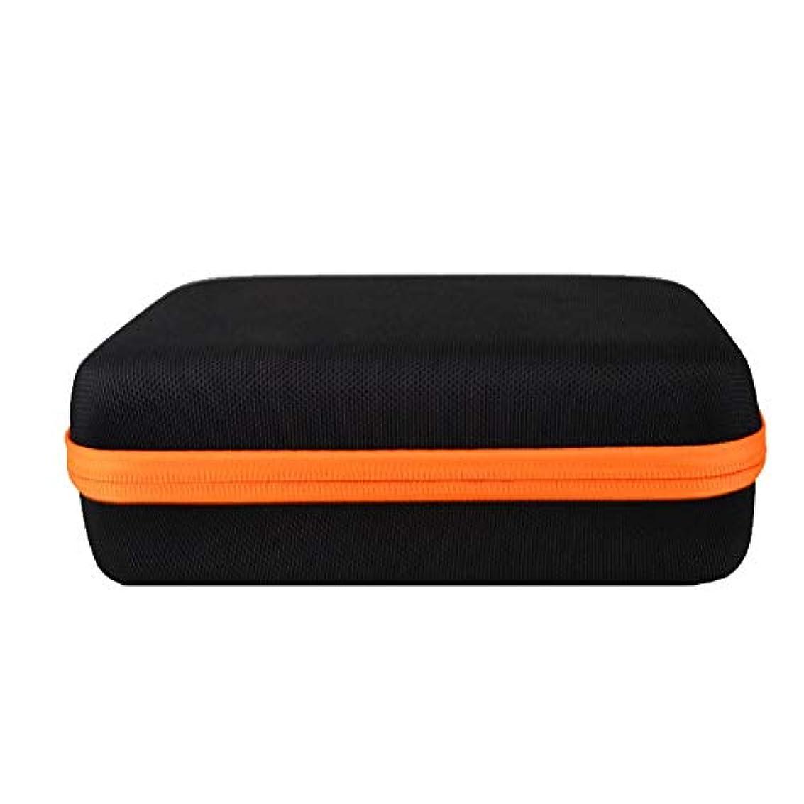 愛情深いタッチオートマトンアロマセラピー収納ボックス 保護テイク5ミリリットル、10mLのとオイルの15ミリリットル瓶不可欠旅行のポータブル石油貯蔵ボックスフレームのための高油のホルスター エッセンシャルオイル収納ボックス (色 : オレンジ, サイズ : 21.5X17.2X7.6CM)