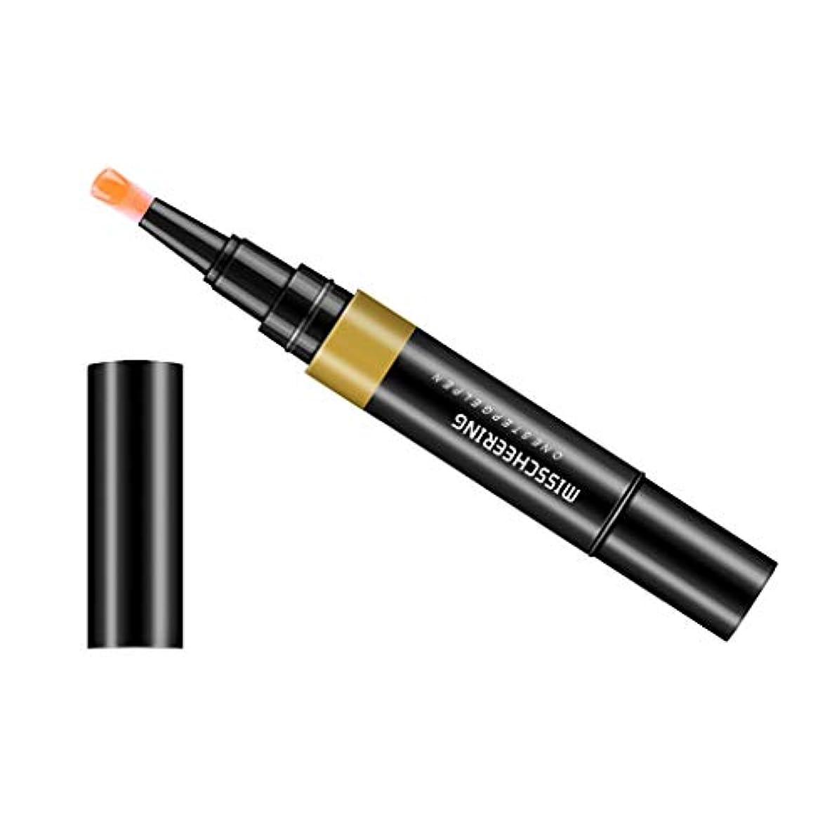 男スモッグ裕福なToygogo ジェル マニキュアペン ワニスラッカー ネイルアートペン 3 イン 1 サロン 初心者 セルフネイル DIY - ライトオレンジ
