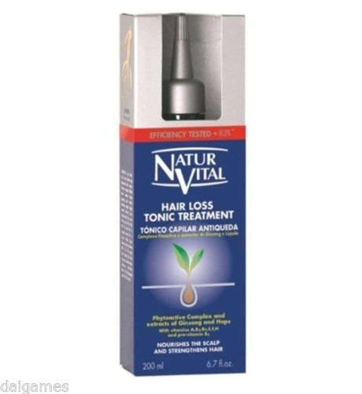 リサイクルする高音タッチNATURVITAL 抜け毛トリートメントトニック200は、脱毛の症状を戦うmlの