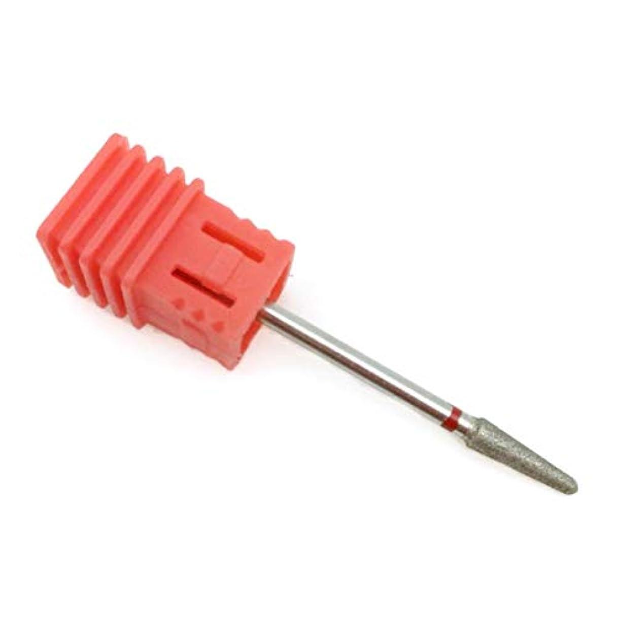 キャンペーン旋回麻痺OU-Kunmlef 新しいデザイン5タイプ赤ダイヤモンドネイルファイルビットバーミリングカッターマニキュア電気ネイルドリル爪アクセサリー(None D4)