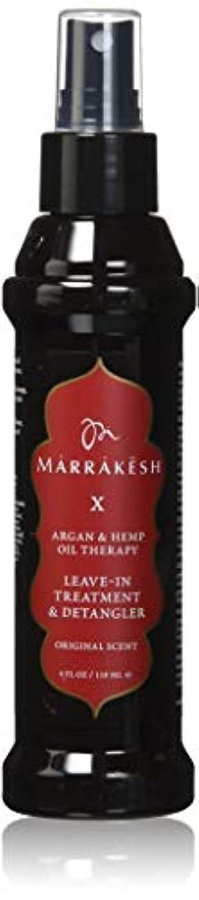 検出器成人期加速するMARRAKESH by MARRAKESH X ORIGINAL LEAVE-IN TREATMENT & DETANGLER WITH HEMP & ARGAN OILS 4 OZ by IMAGINE