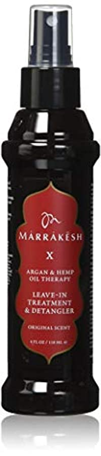 本物ミリメートル動くMARRAKESH by MARRAKESH X ORIGINAL LEAVE-IN TREATMENT & DETANGLER WITH HEMP & ARGAN OILS 4 OZ by IMAGINE