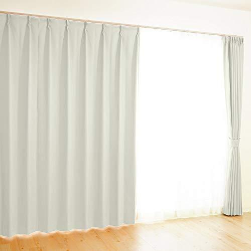 【全41カラー×220サイズ】 オーダーカーテン 1級遮光 防炎 均一価格 ポイフル オフホワイト 幅150×丈169cm 1枚