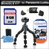 アクセサリーキットfor Panasonic Lumix DMC - lx5デジタルカメラは8GB高速SDメモリカード+ High Speed 2.0USB SDカードリーダー+ Gripster三脚+ LCDクリアスクリーンプロテクター+ More