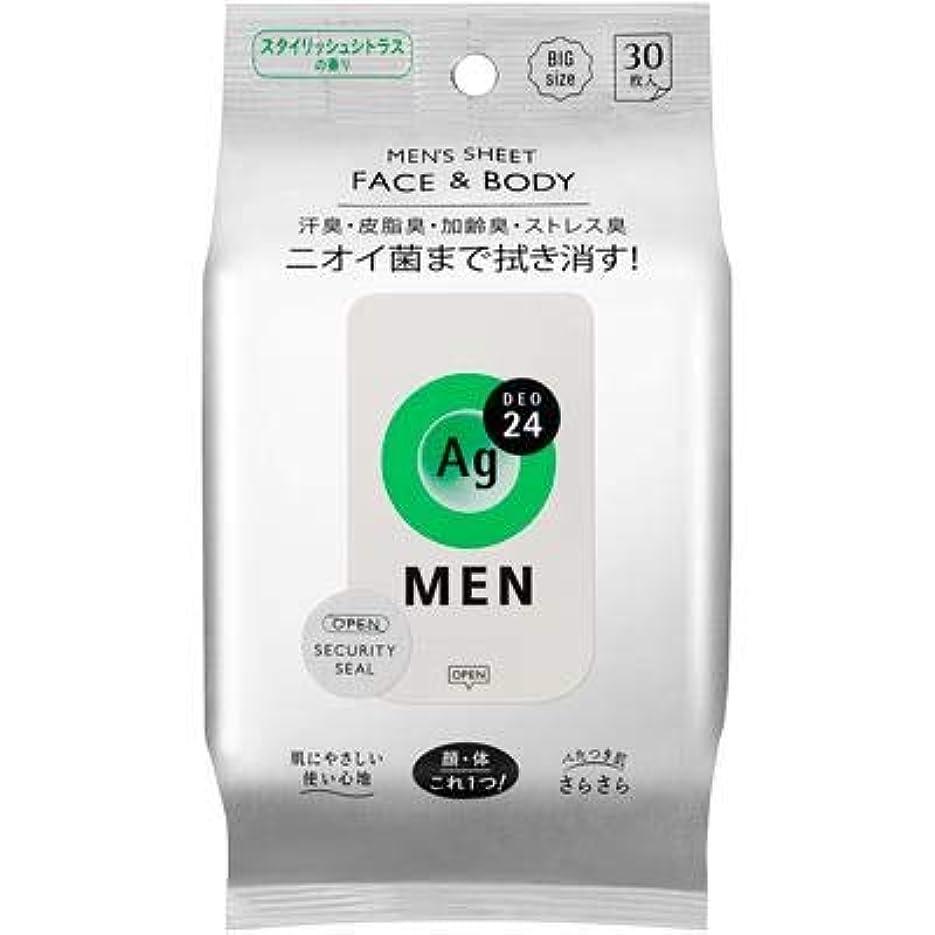 電圧フォーク夢エージー24メン メンズシート フェイス&ボディ(シトラス)30枚 (12)