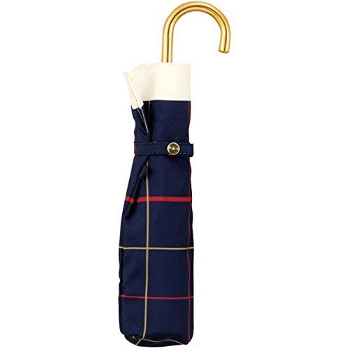 w.p.c(WPC) 【折りたたみ傘】【スタンダード】スカーフチェック mini (雨傘/レディース)【ネイビー/50】