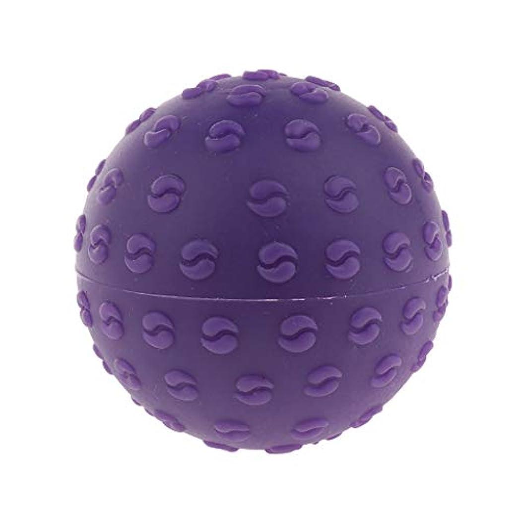 塊用心する希少性D DOLITY マッサージボール 指圧ボール シリコーン トリガーポイント 足底筋膜炎 ヨガ 快適 全6色 - 紫, 説明のとおり