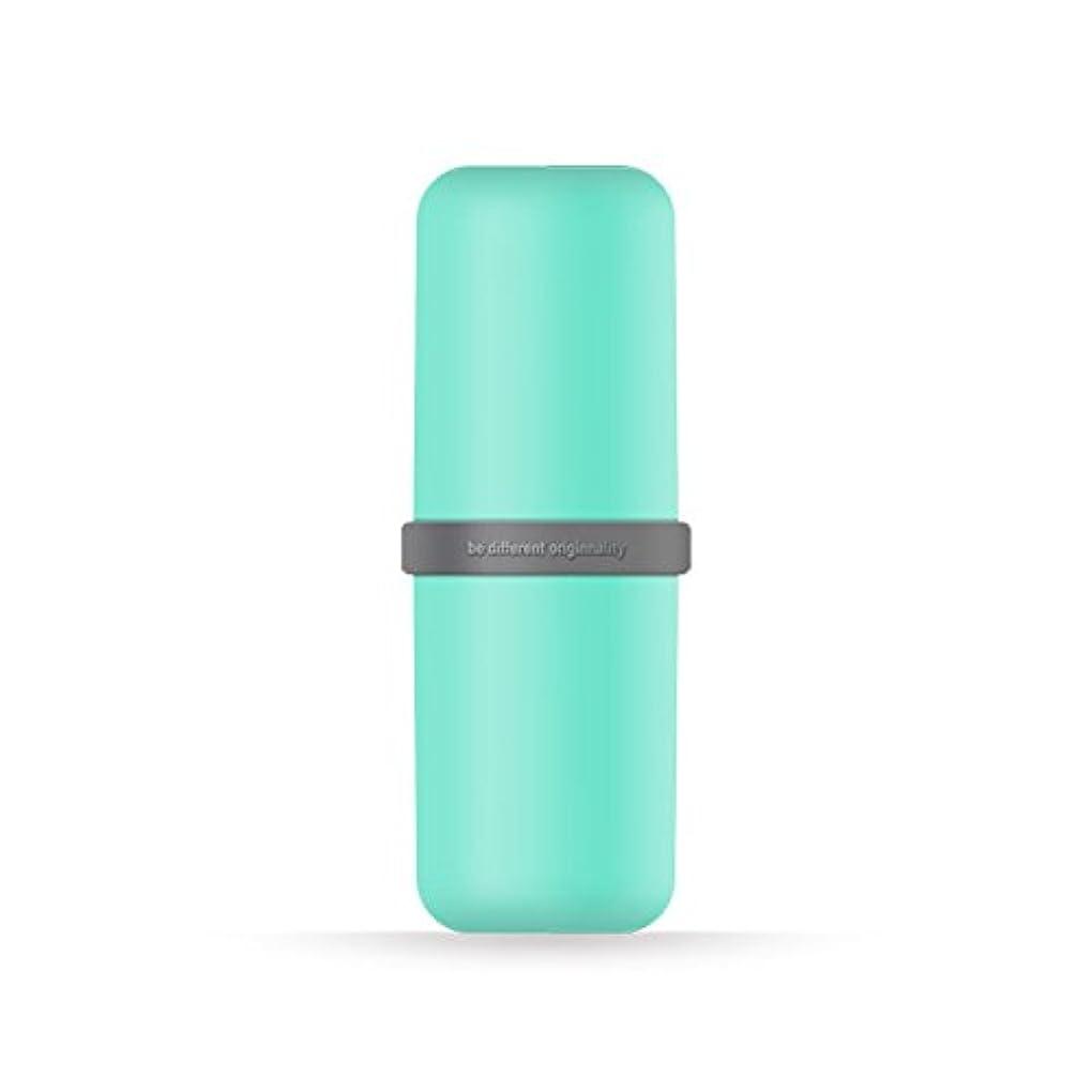 宇宙前部三角ポータブル歯ブラシWashカップ歯磨き粉ボックス便利旅行歯ブラシ歯磨き粉オーガナイザー 6*20cm グリーン