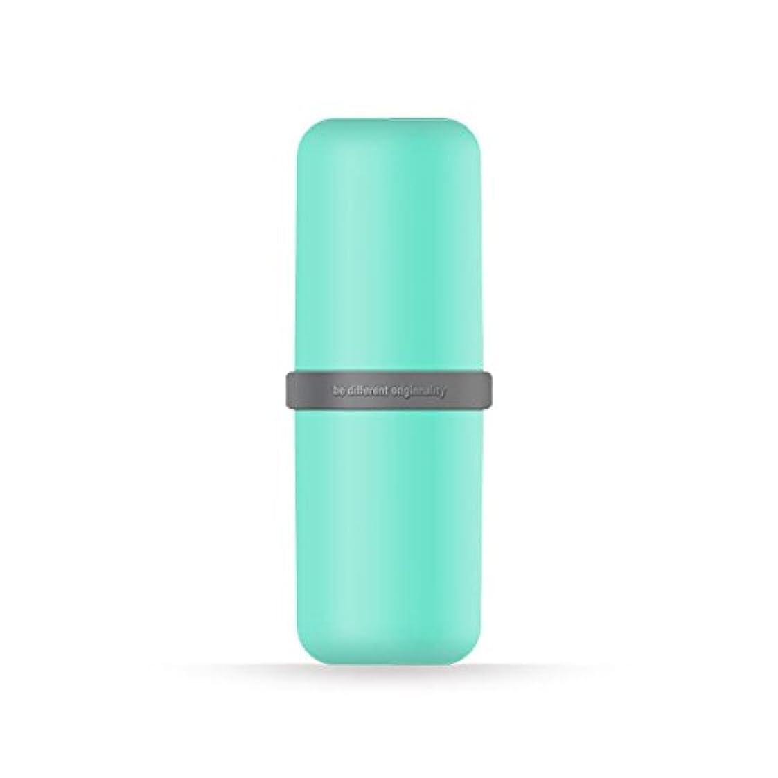 左キルト怠なポータブル歯ブラシWashカップ歯磨き粉ボックス便利旅行歯ブラシ歯磨き粉オーガナイザー 6*20cm グリーン