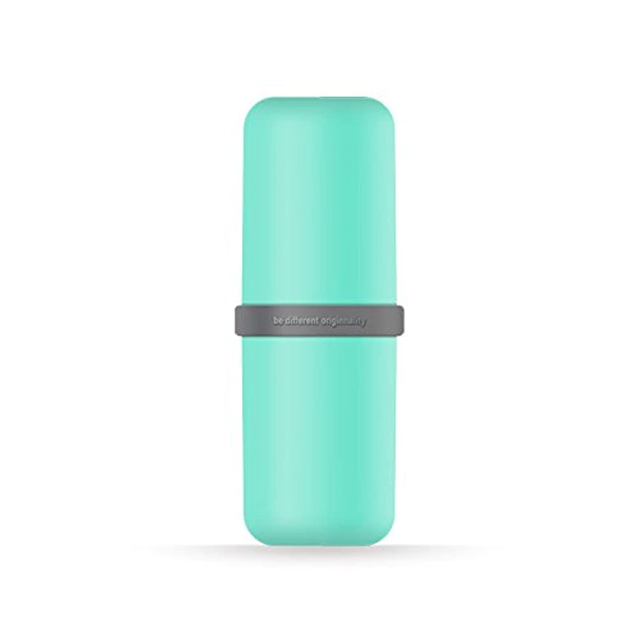 開発バルセロナローストポータブル歯ブラシWashカップ歯磨き粉ボックス便利旅行歯ブラシ歯磨き粉オーガナイザー 6*20cm グリーン