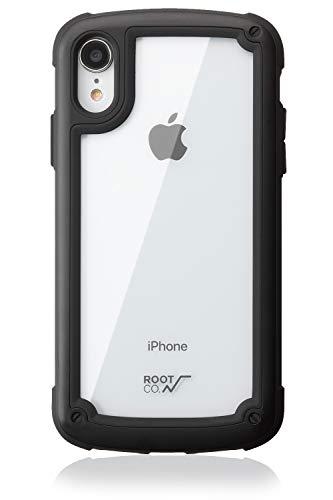 【ROOT CO.】iPhoneXR ケース 耐衝撃 Gravity Shock Resist Tough & Basic Case. (ブラック)