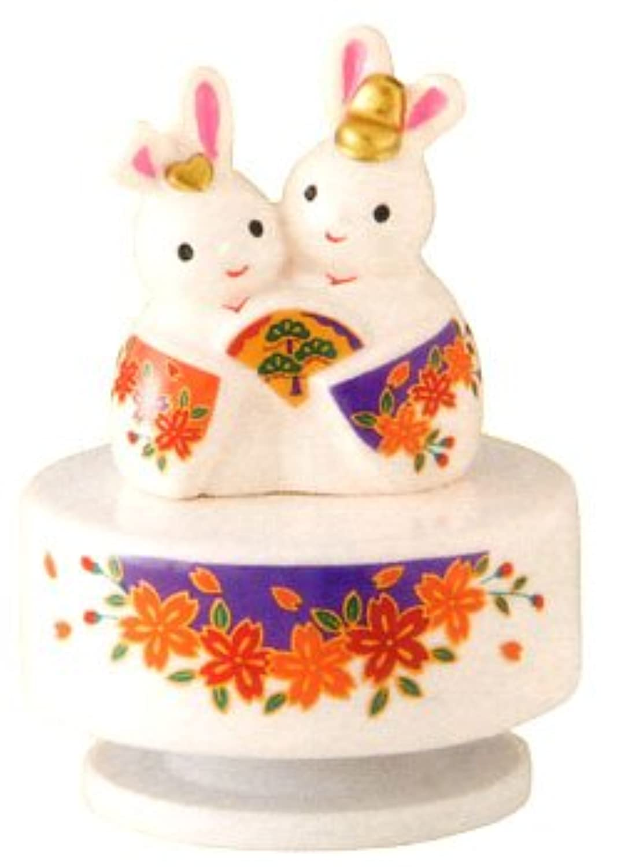 【ひな人形】 雛人形 出産祝い お雛様 陶器 桃の節句 雛祭り 内祝い 誕生日お祝い 大人女子もひな祭り オルゴールうさぎ雛