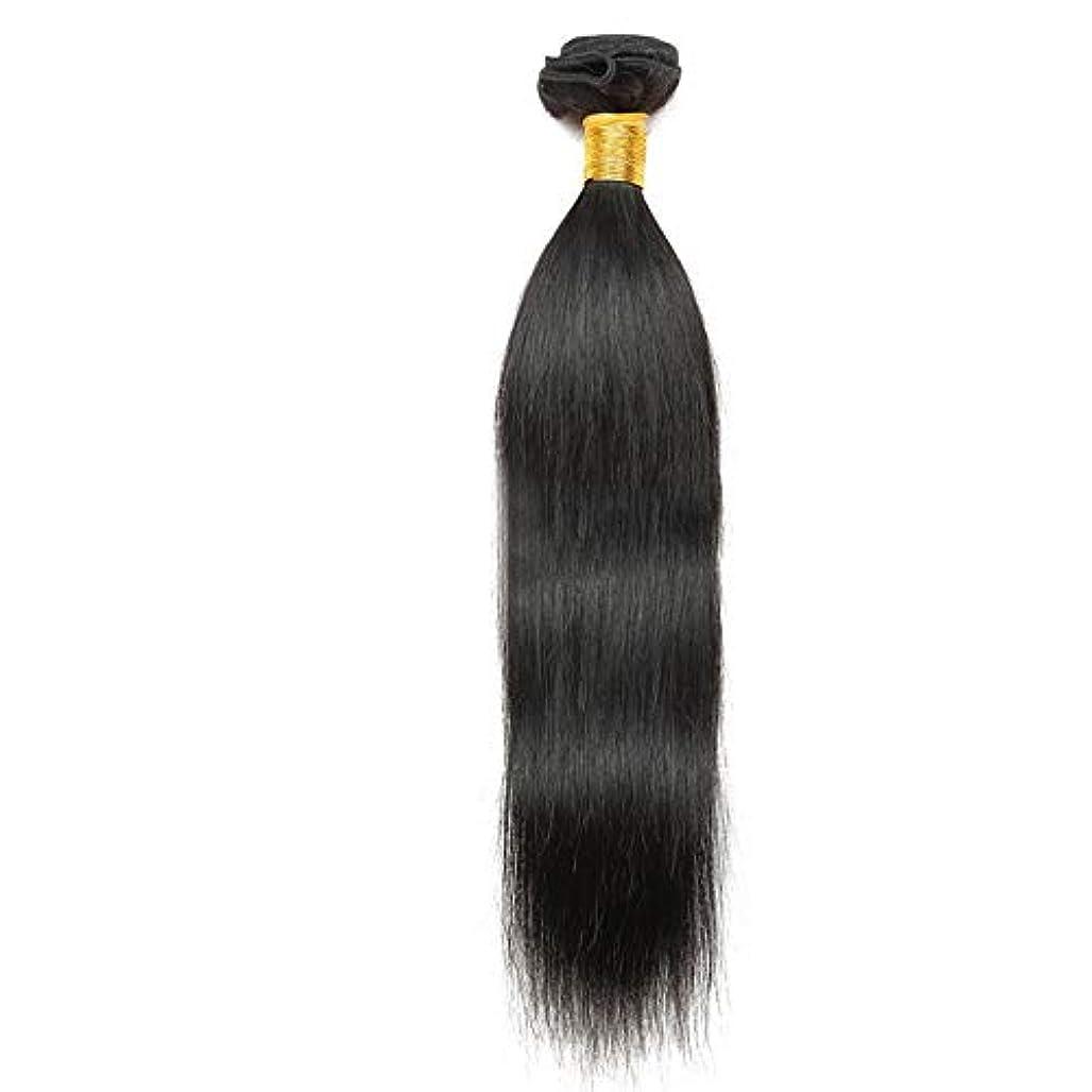 強制嫉妬受け入れHOHYLLYA 10インチ-26インチブラジルの髪の毛ストレート人間の髪の毛の織り方1バンドルブラジルの絹のようなストレートヘア天然色は染められることができます合成髪レースかつらロールプレイングウィッグロング&ショート...