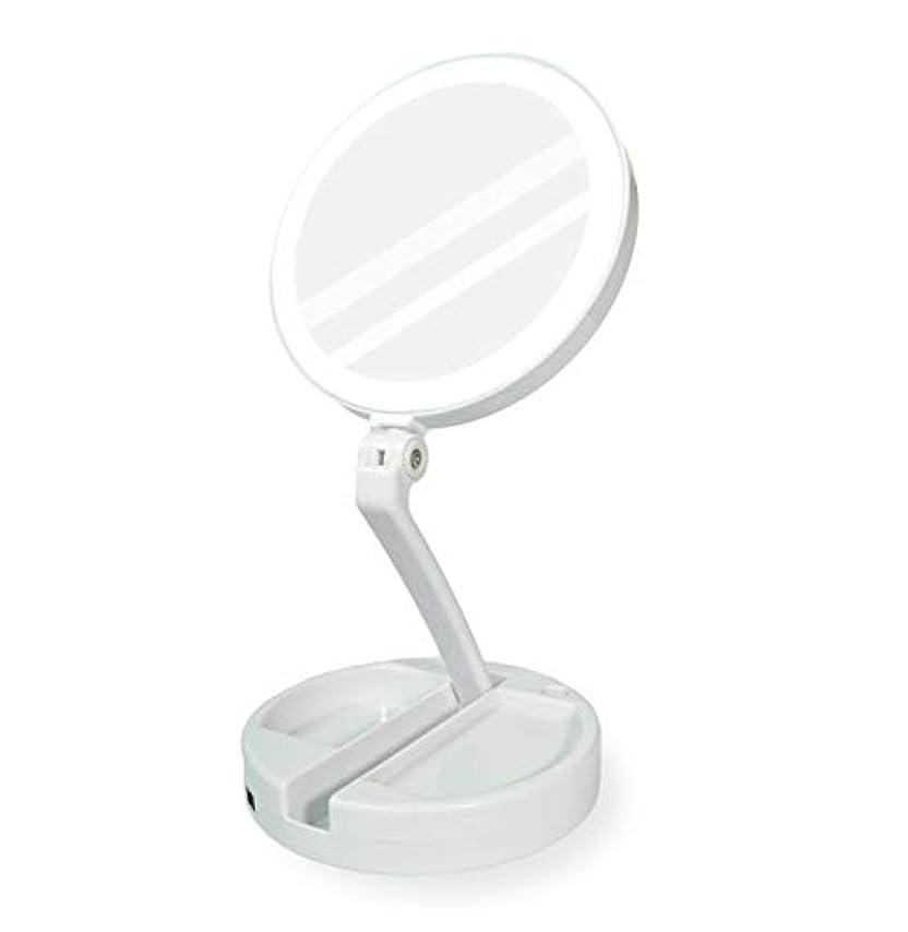 リム誠意近傍YEEZEN 両面拡大鏡 等倍と10倍拡大 化粧 無段調光 卓上鏡 ライト付き拡大鏡 化粧鏡 ライトつきミラー 折りたたみ式 360°回転 収納しやすい 鏡 led 拡大ミラー