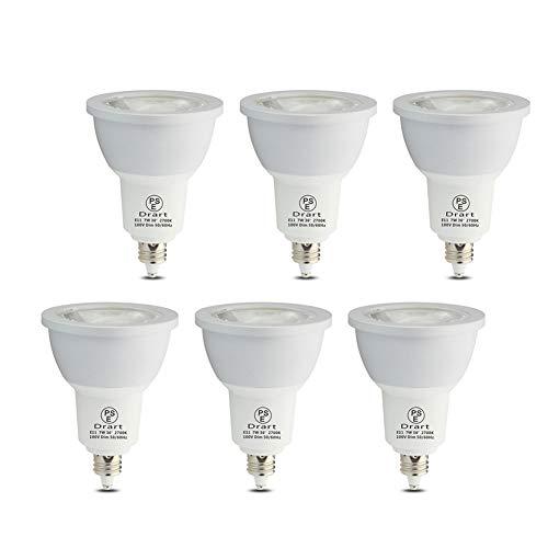LED電球 7W E11 LED スポット 調光対応 ハロゲン電球形 65W相当 PSE認証 3年保証(6個入り) (電球色)