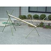 そうめん流し竹セット 竹[半割り・約180cm]×1本 + 竹脚[約150cm・3本]×2組