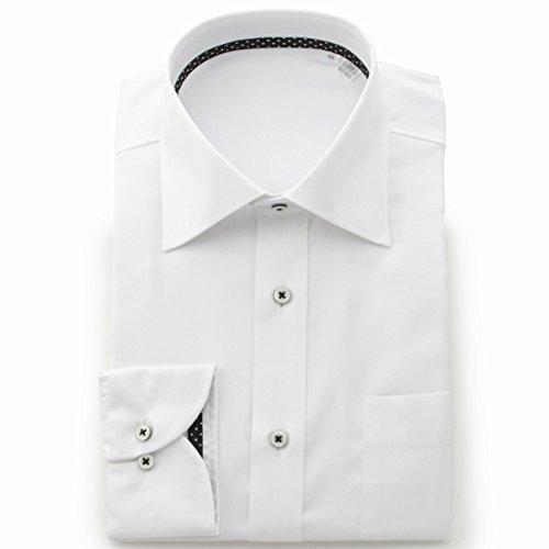ビサルノ(VISARUNO) ラクチンすっきりYシャツ・肌触りなめらか素材形態安定生地使用【ホワイトYA(細身)/39-78~80】