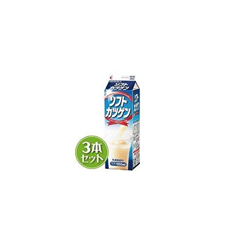 雪印メグミルク ソフトカツゲン 北海道限定 1000ml ×3本セット