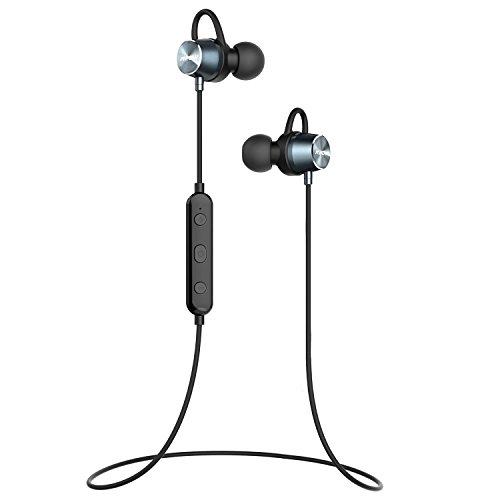 Mpow Bluetooth イヤホン ブルートゥース ヘッドホン ワイヤレス マグネット搭載 スポーツ ヘッドセット IPX4防水規格 6時間連続再生可能 内蔵マイク搭載 iPhone、Android各種対応
