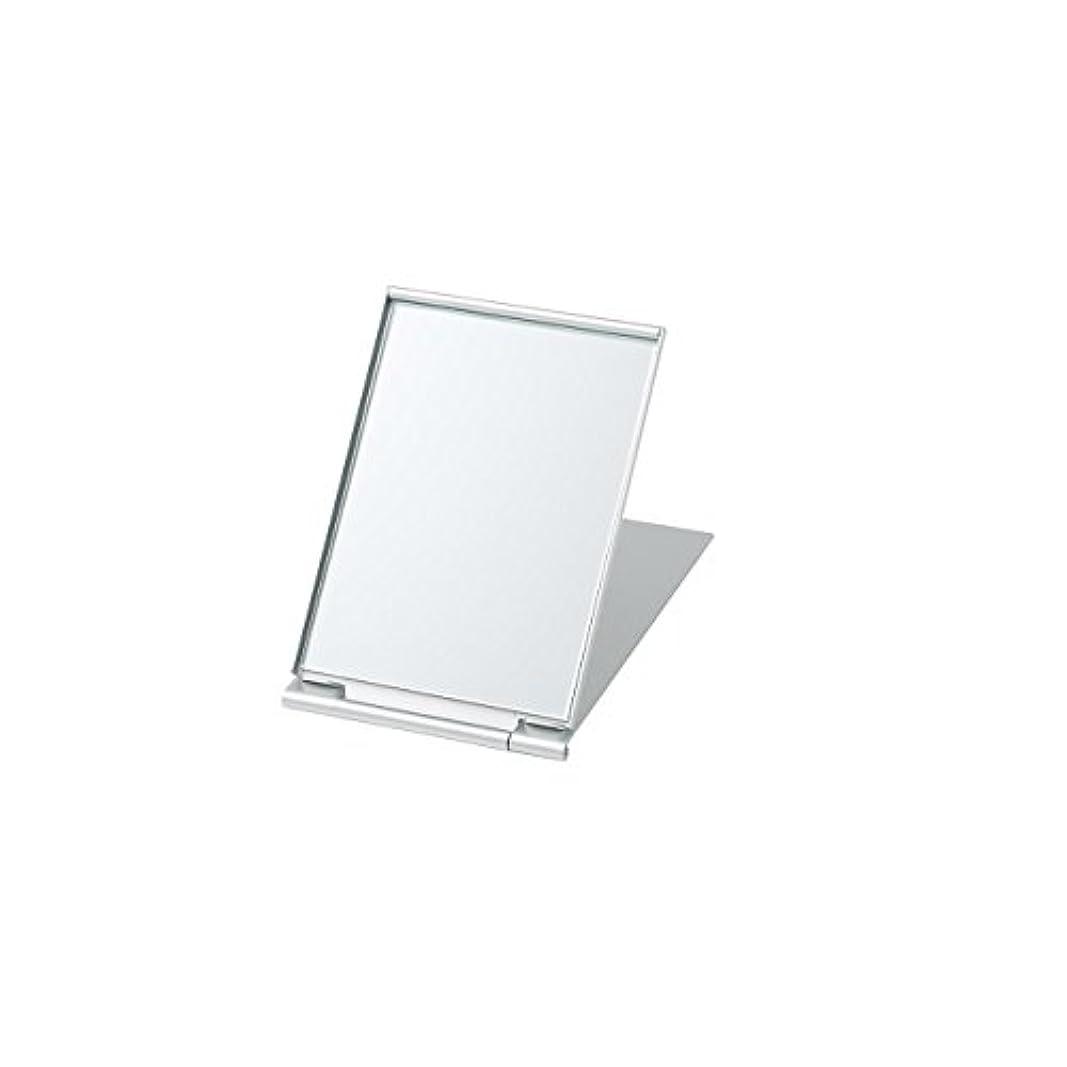 ネックレットステーキヒープ無印良品 アルミ折りたたみミラー?小 93x63x厚さ4.4mm 日本製