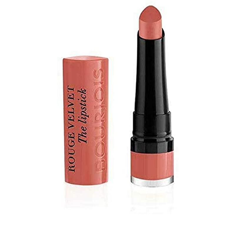 従者せせらぎ支配的[Bourjois ] ブルジョワルージュのベルベット口紅 - 桃のTartin 15 - Bourjois Rouge Velvet The Lipstick ? Peach Tartin 15 [並行輸入品]