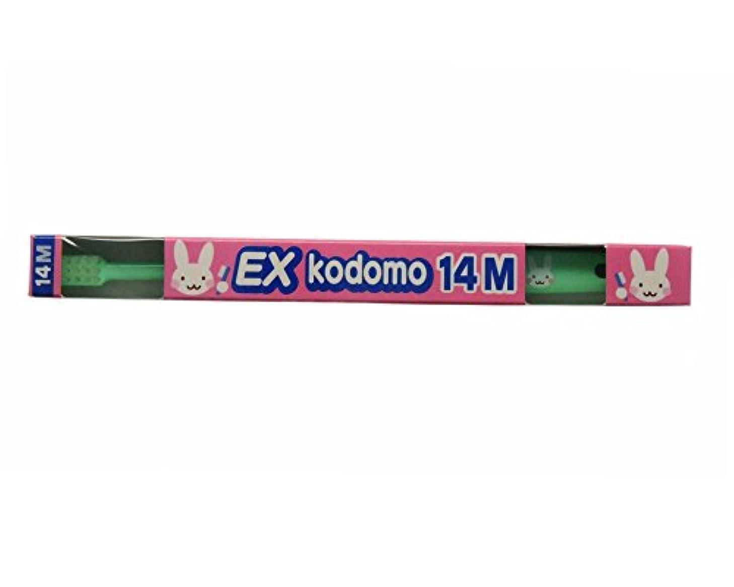 お誕生日シェトランド諸島小数ライオン コドモ DENT.EX kodomo 1本 14M グリーン (仕上げ磨き用?0?6歳)