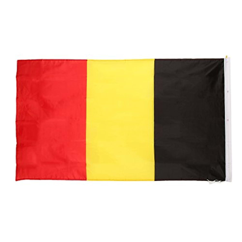 【ノーブランド 品】国旗 国 ベルギー バナー 飾り 90*150cm