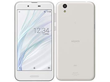 SHARP (シャープ) AQUOS sense SHV40 ホワイト 白ロム Silky White 白色 au B077HTKMSL 1枚目