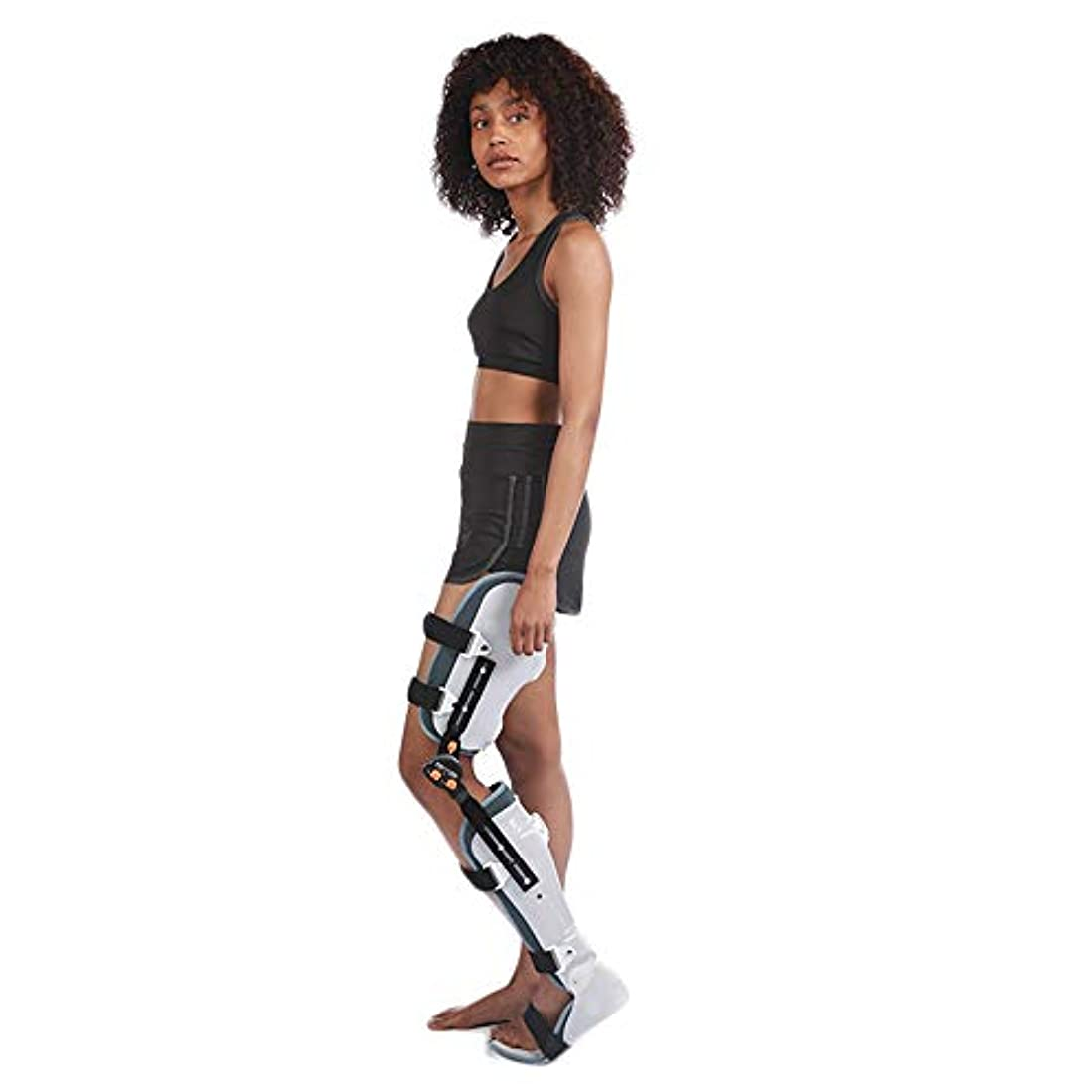 非難コードレス段落膝足首足装具、調節可能な長短脂肪の薄い膝ふくらはぎ術後固定リハビリテーションブレースブラケット