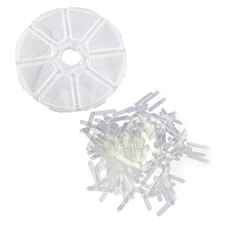 最初に前兆明らかHEALLILY 120ピースの陥入したつま先ネイル修正ステッカーパッチパロニキアコレクターファイル弾性パッチコレクター3×24×0.3ミリメートル