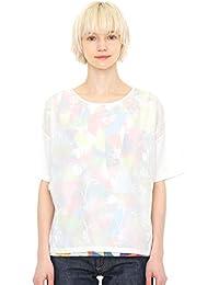 (グラニフ) graniph 5分袖 刺繍 Tシャツ ラウンドネック (ポピーアンドバタフライ) (ホワイト) レディース (g14)