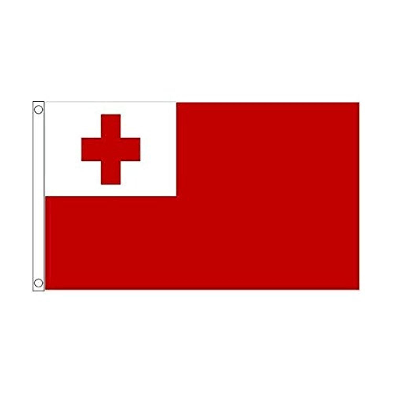 国旗 トンガ王国 オセアニア 90cmx150cm 特大フラッグ【ノーブランド品】