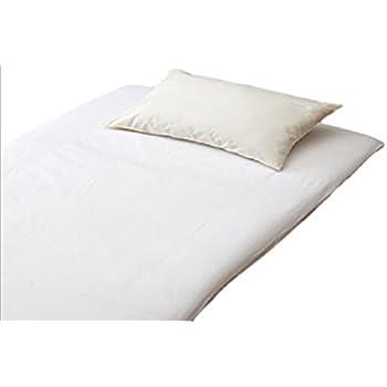 EFFECT ワンタッチシーツ 綿100% 厚手で 丈夫な ツイル織り 無地 シングルサイズ 105×215cm ホワイト 洗濯機で丸洗い可能