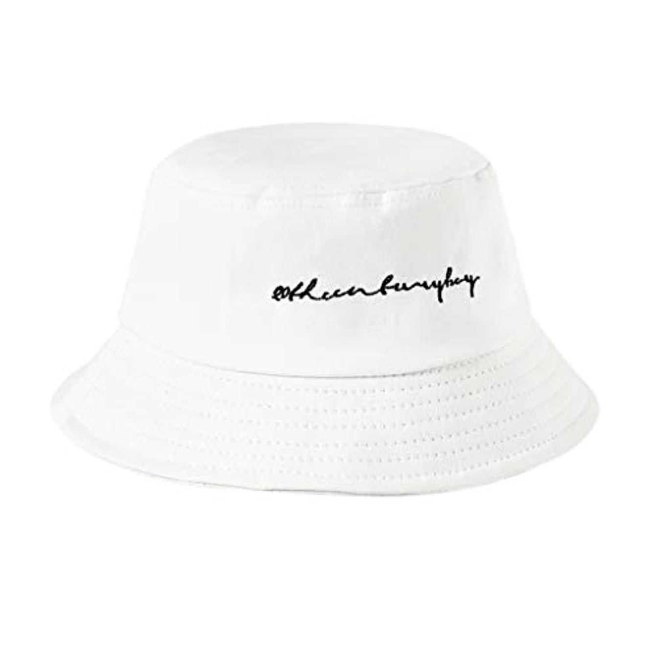 乳白色スープ晩ごはんManyao 22色女性女の子面白い刺繍手紙広いつばバケツ帽子夏カジュアル原宿ヒップホップ学生スポーツ漁師キャップ