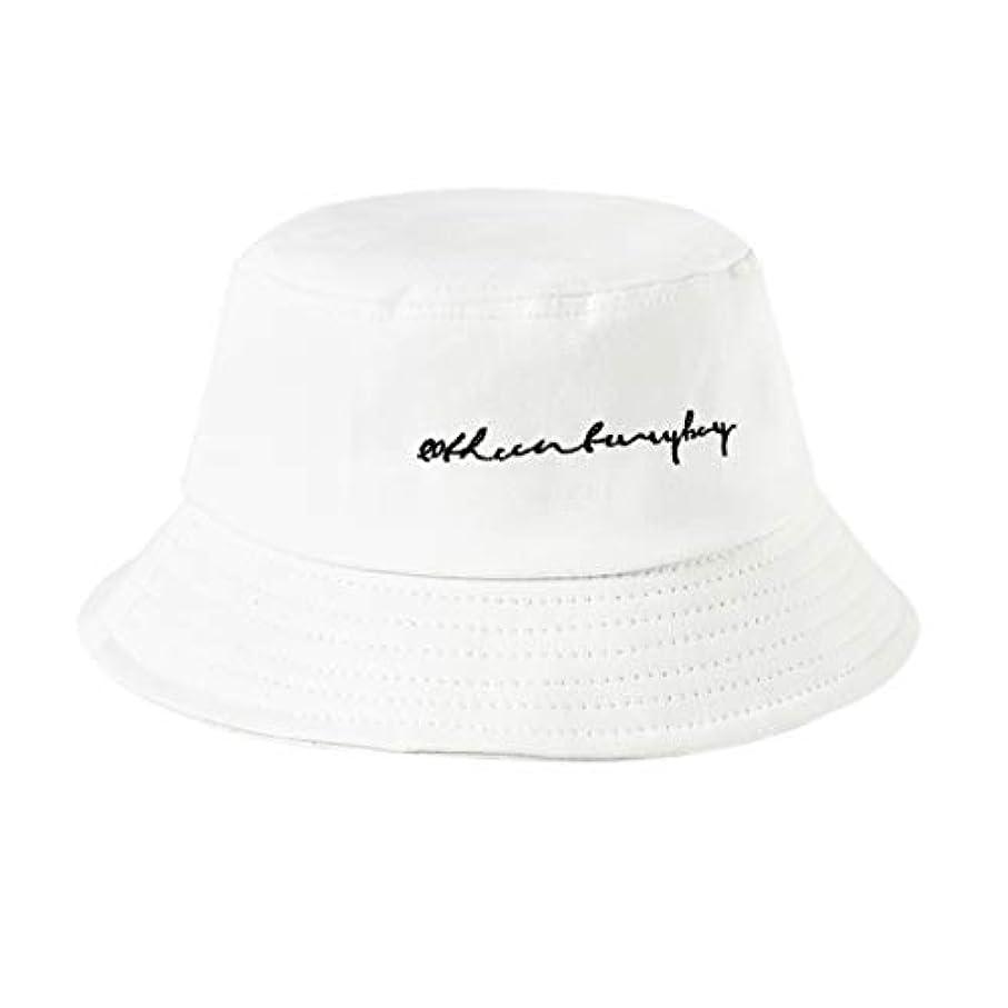Manyao 22色女性女の子面白い刺繍手紙広いつばバケツ帽子夏カジュアル原宿ヒップホップ学生スポーツ漁師キャップ