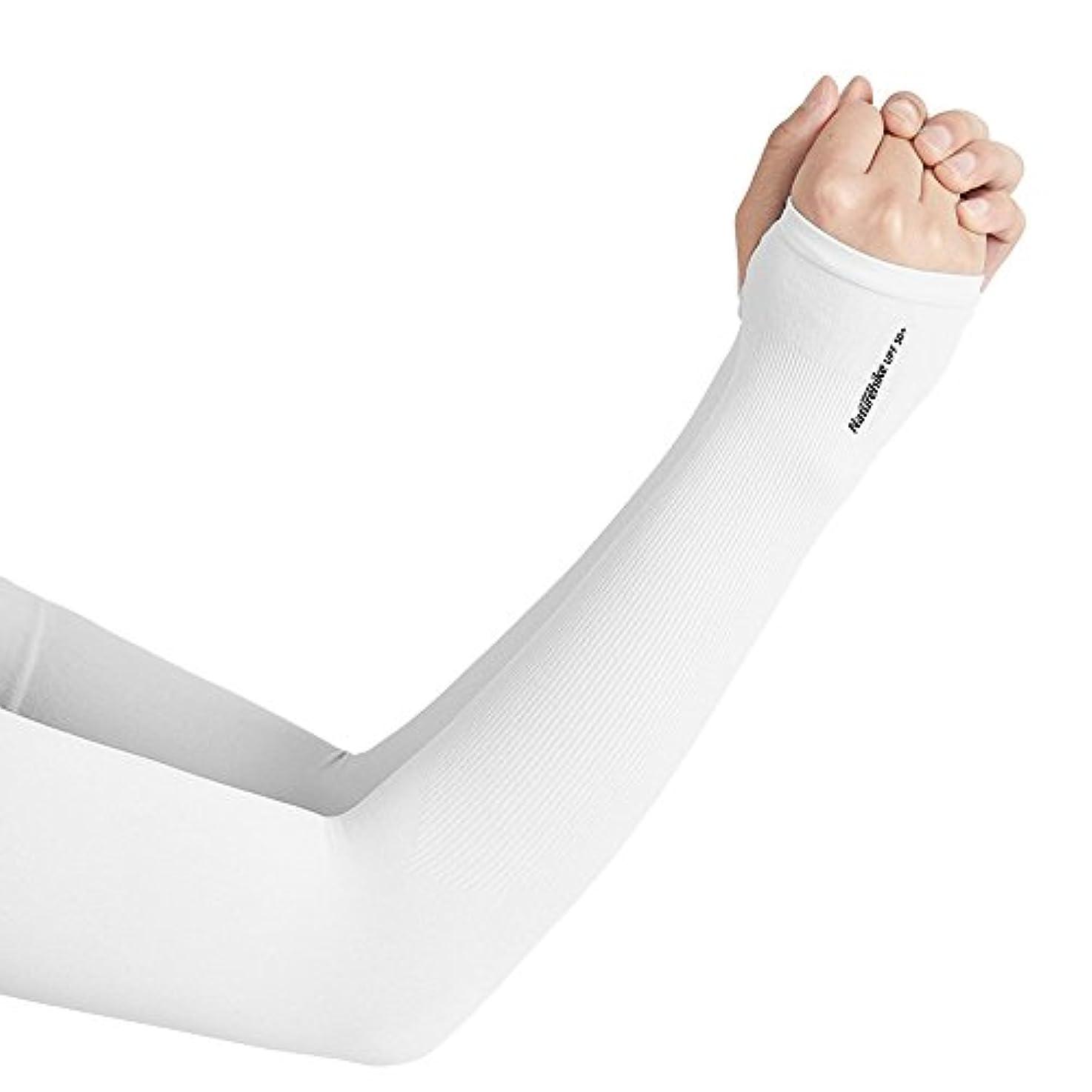 なくなる刺す物理的なTentock アームカバー 腕カバー 日焼け止め UPF50+ 紫外線防止 冷感 吸汗 速乾 UVカット 男女兼用 指穴あり 自転車、運転、ゴルフ、釣り、バスケットボール、フットボール、アウトドアアクティビティ