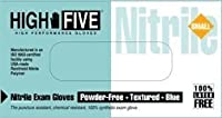"""High Five N814-10 Nitrile Glove,Exam,Powder-Free,6 mil Thickness,9-1/2"""" Length,X-Large,Blue (Case of 1000) [並行輸入品]"""