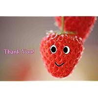 【言葉で伝えるポストカードAIR】「Thank You!」イチゴのポストカード絵葉書はがきハガキ