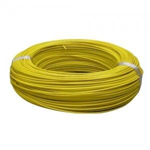 住電日立ケーブル 【切売販売】 600V ビニル絶縁電線 アース線 単線 1.2mm 1m単位切り売り 黄色 IV1.2キイロ