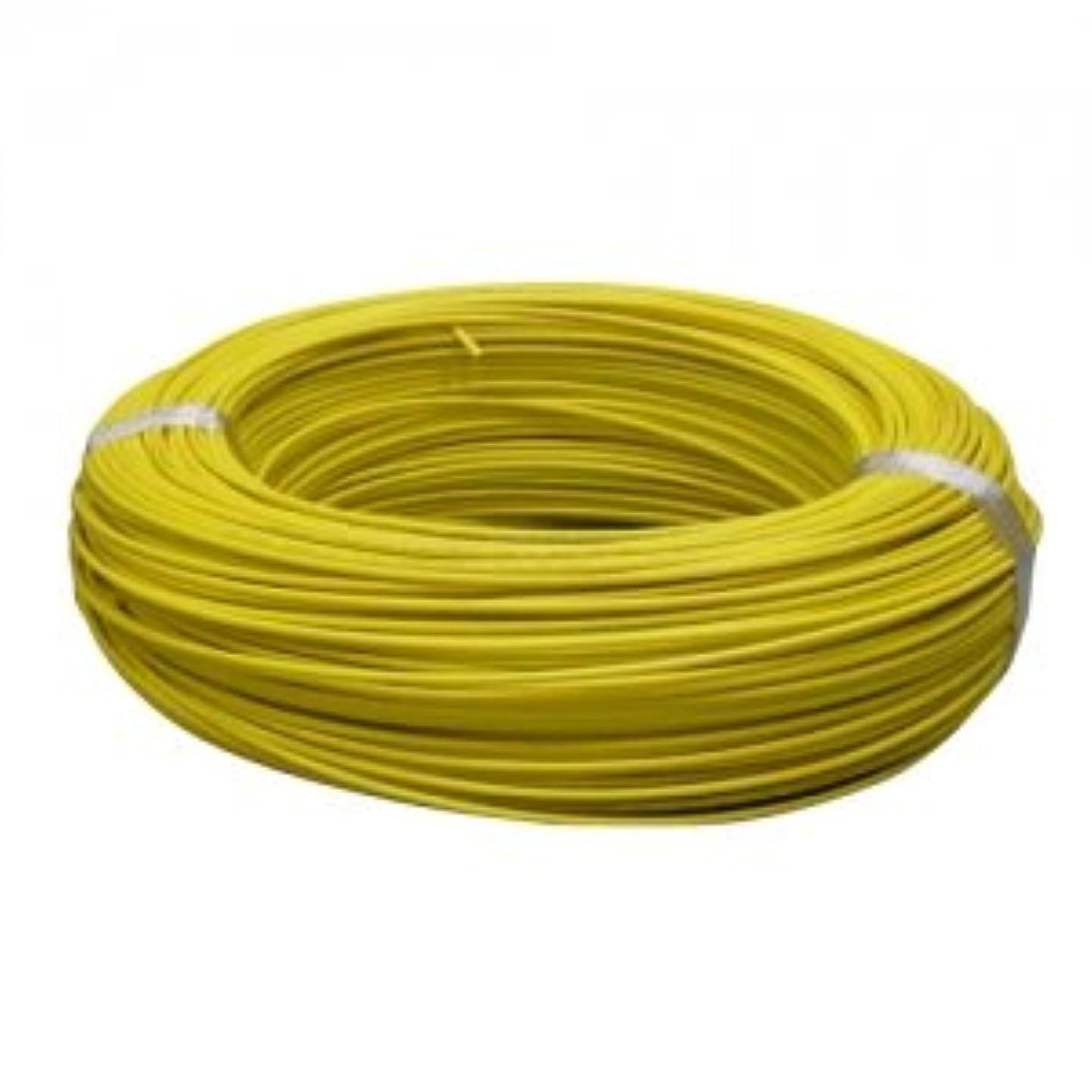 見かけ上職人縮約住電日立ケーブル 600V ビニル絶縁電線 アース線 より線 1.25? 300m巻 黄色 IV1.25SQ×300mキイロ