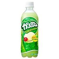 【まとめ買い】ポッカサッポロ がぶ飲み メロンクリームソーダ 500ml ペットボトル 24本入り(1ケース) dS-1454093