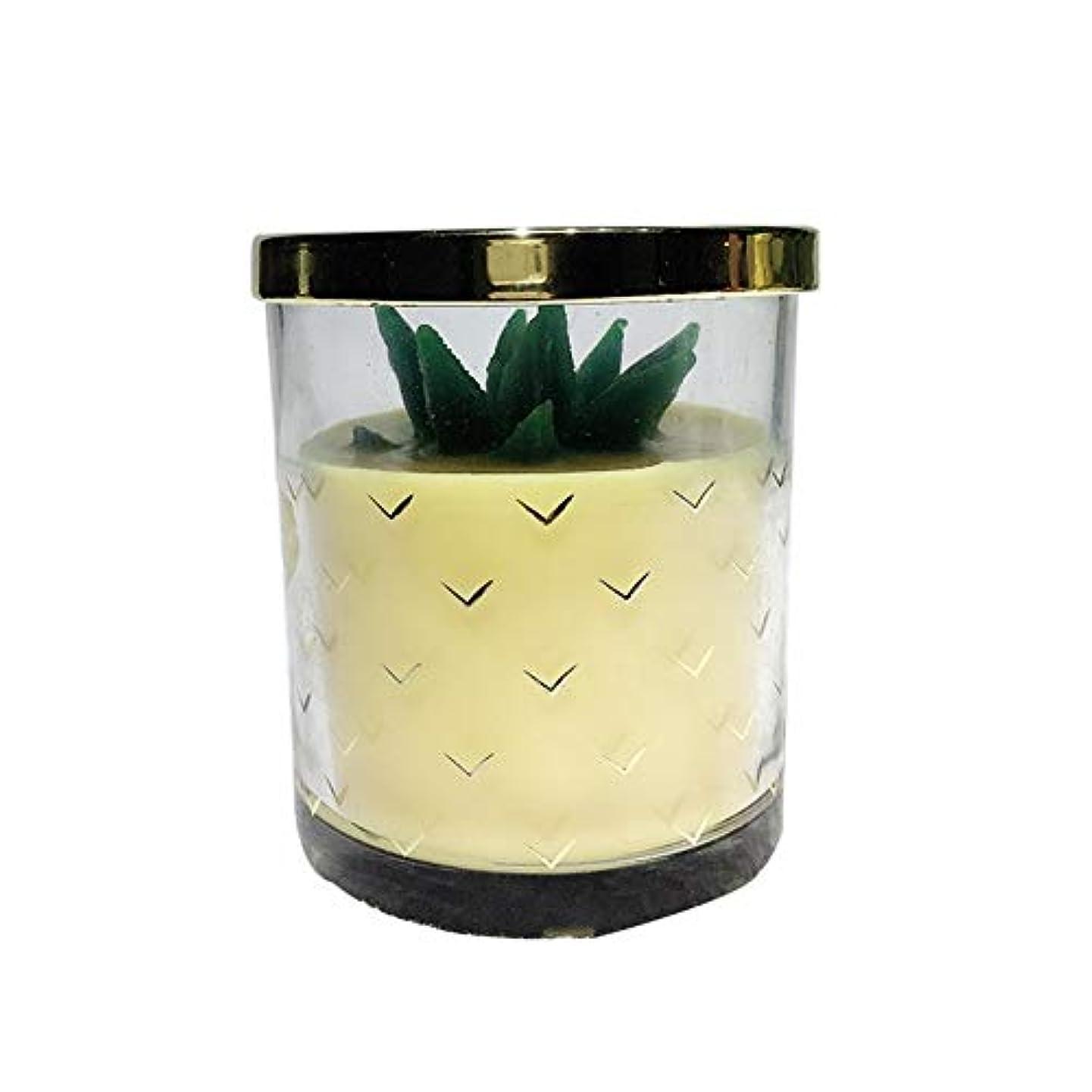 キャンバス敬礼制限Guomao 大豆ワックスフルーツキャンドルバレンタインデークリエイティブギフト (色 : Pineapple)
